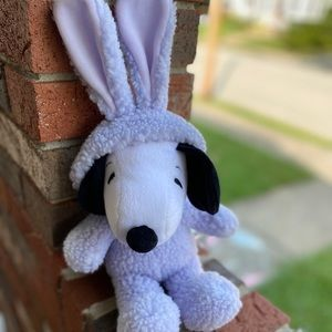 Snoopy Easter beagle purple bunny plush